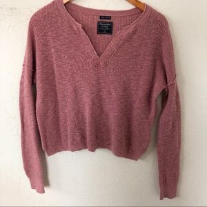 Abercrombie and Fitch Henley Knit Sweater